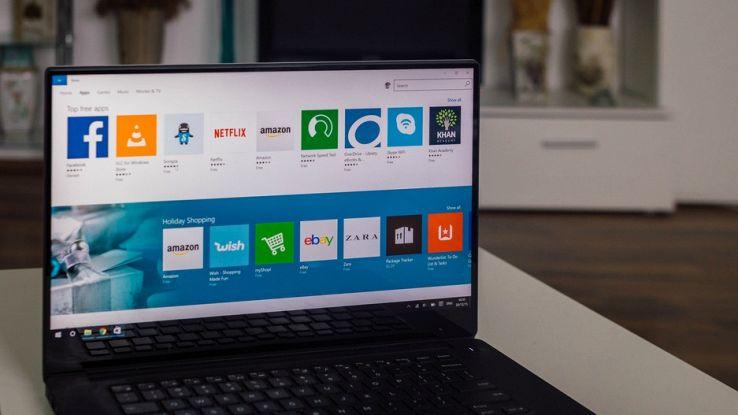 un computer connesso su Windows Store