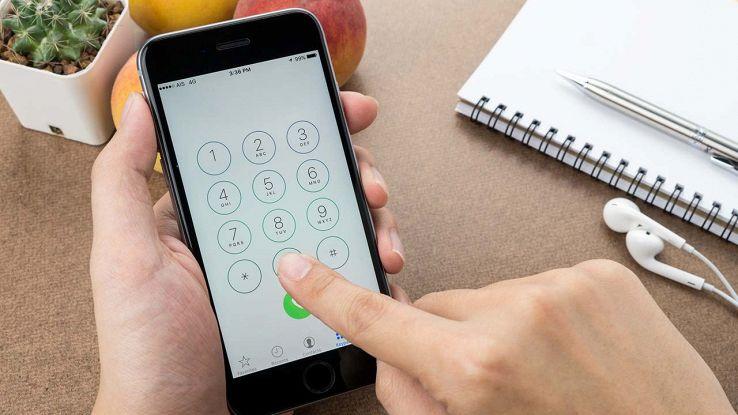 Fare chiamata con un iPhone