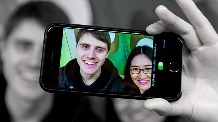 Tom Overton and Tingting Zhu of Microsoft app Color Binoculars