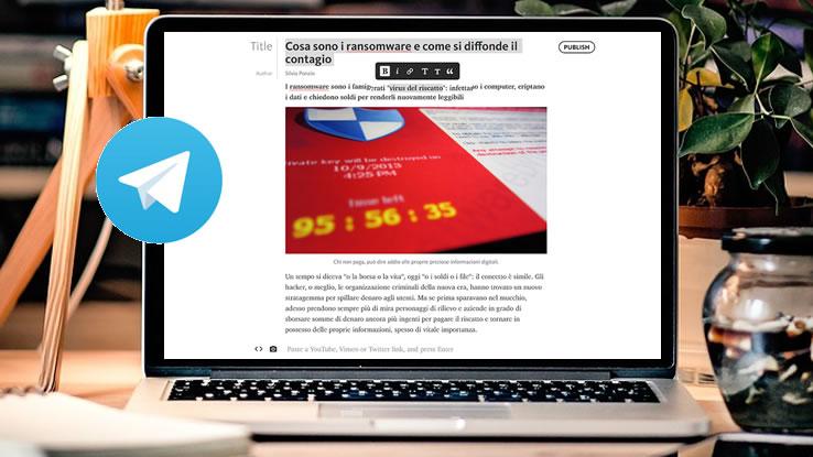 Telegram lancia Telegraph, la piattaforma di pubblicazione anonima