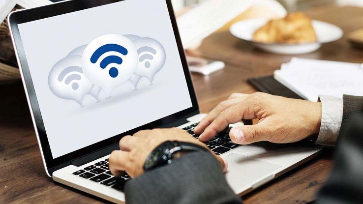 Computer connesso al Wi-Fi