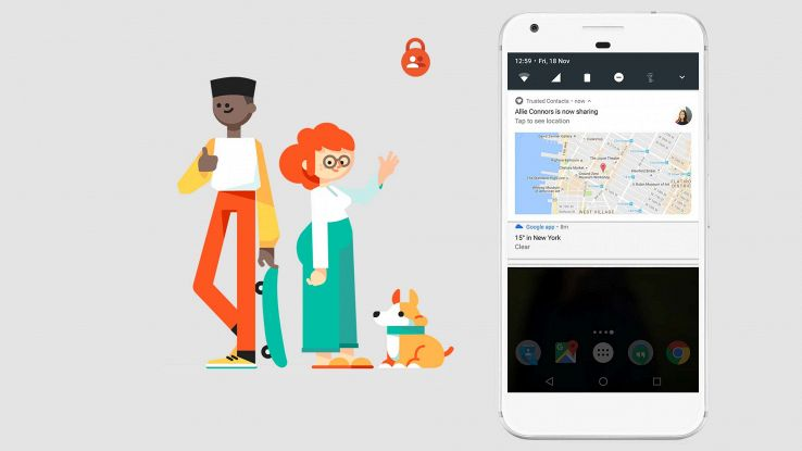 Google Contatti Fidati, l'app per avvisare amici in caso di pericolo