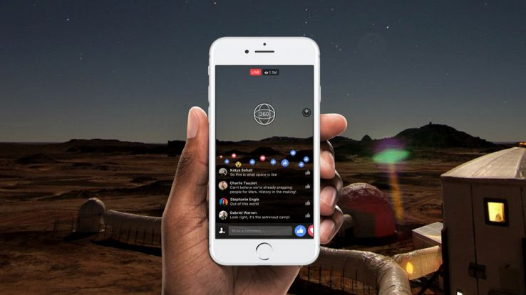 Facebook diretta streaming video 360