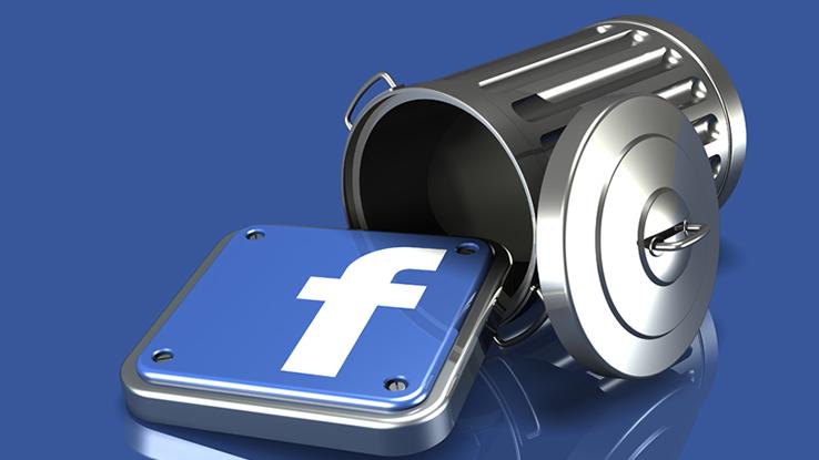 Facebook e secchio dell'immondizia