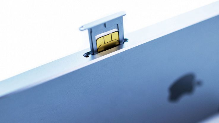 SIM inserita nell'iPhone