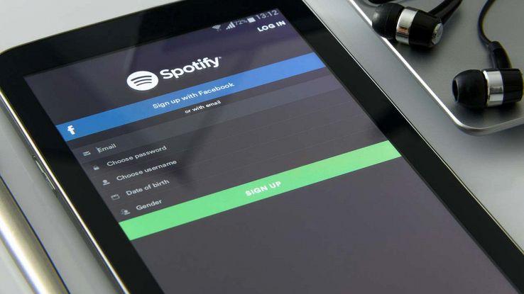 Spotify su dispositivo mobile
