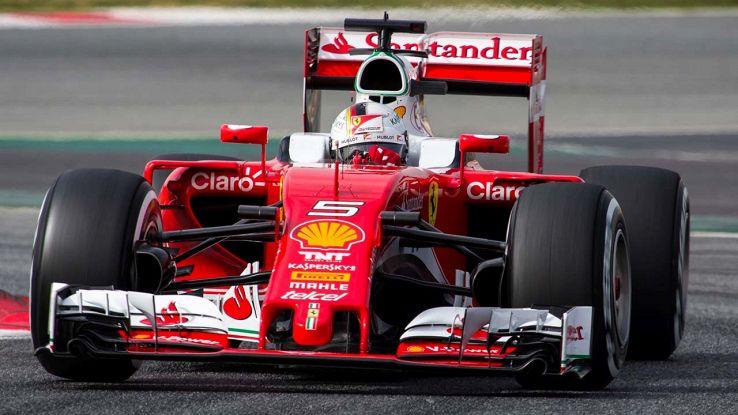 Vettel a bordo della Ferrari di F1
