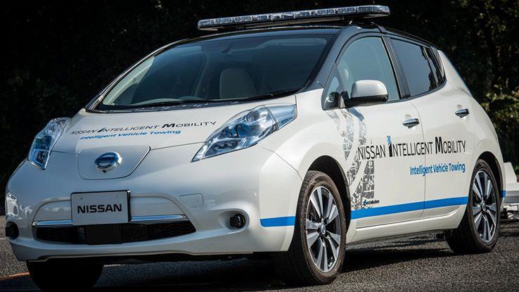 Nissan Leaf guida autonoma