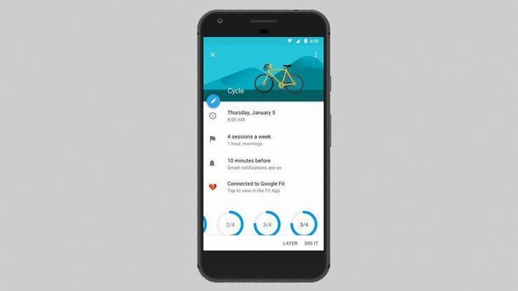 Google Calendar si aggiorna con funzionalità dedicate al fitness