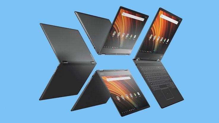 Lenovo, ecco il nuovo Yoga A12: tablet Android con tastiera olografica