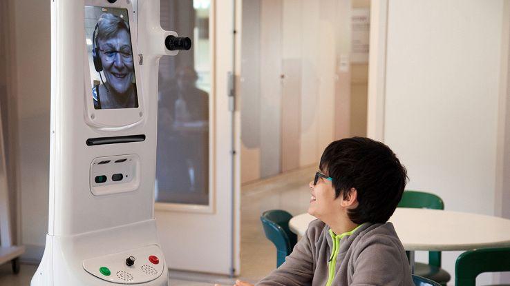 Teresa, il robot che permette di comunicare a distanza. Foto