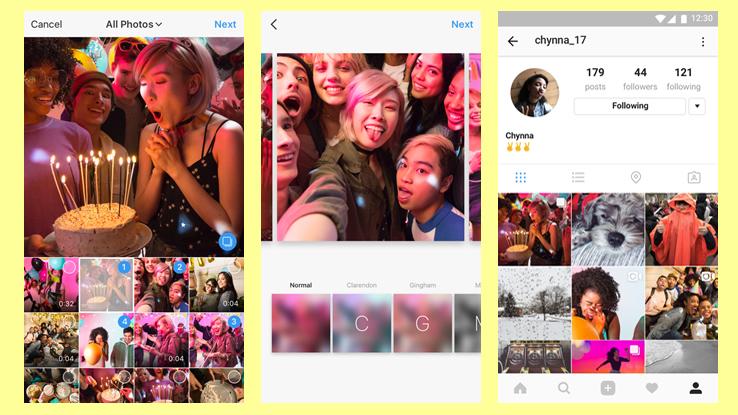 Instagram introduce gli album: fino a 10 foto e video in un unico post