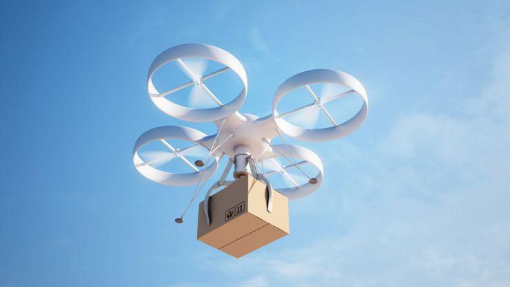 Amazon i pacchi saranno consegnati dai droni utilizzando il paracadute