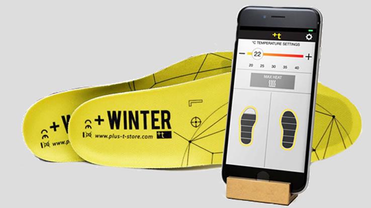 Winter+, le solette per scaldare i piedi intelligenti