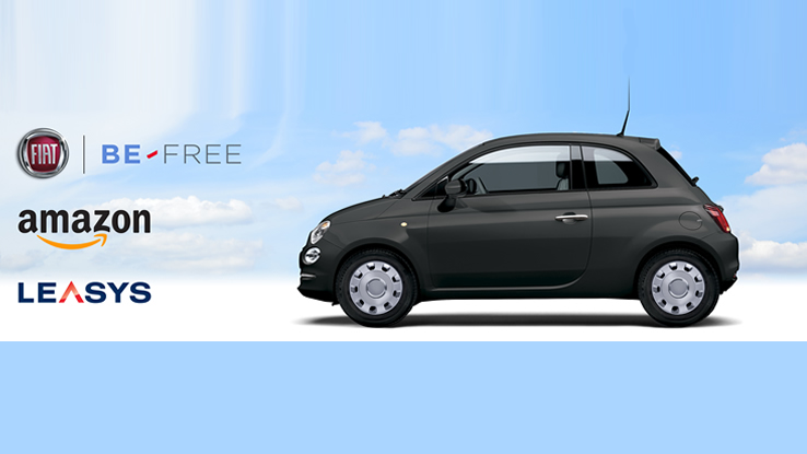 Noleggiare auto online, Fiat 500 disponibile su Amazon