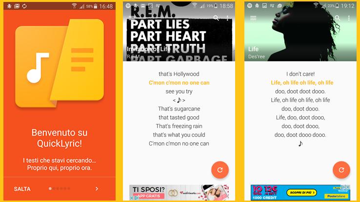 Come scaricare i testi delle canzoni con Android, gratis