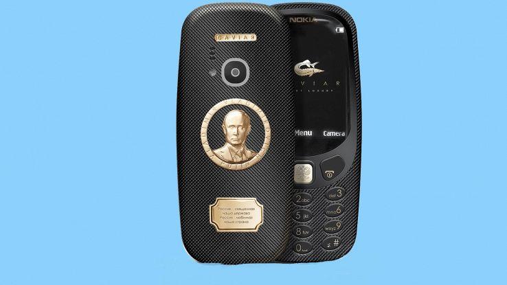 Ecco il Nokia 3310 da 1600 euro: è in oro e con il volto di Putin