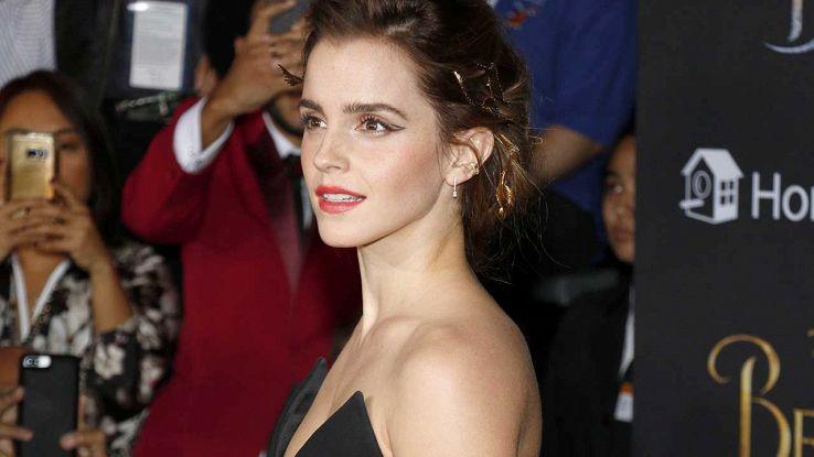 Emma Watson alla premiere de La Bella e la Bestia