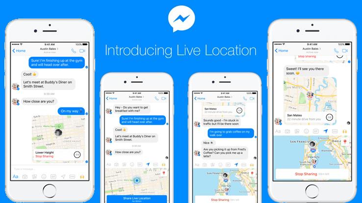 Messenger permette di condividere la posizione, ma solo per un'ora