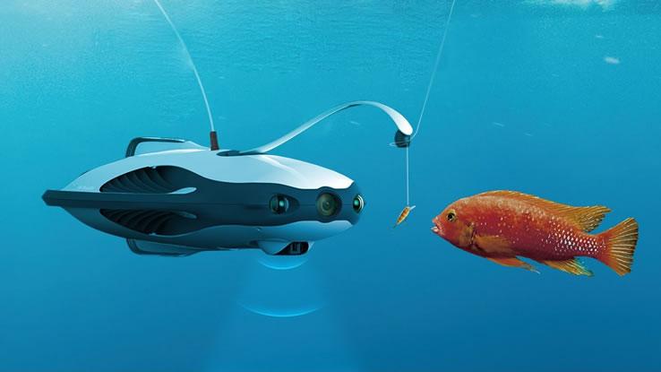 PowerRay, il drone subacqueo per film maker e pescatori