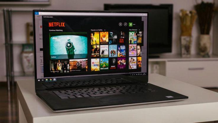 Un computer sull'home page di Netflix