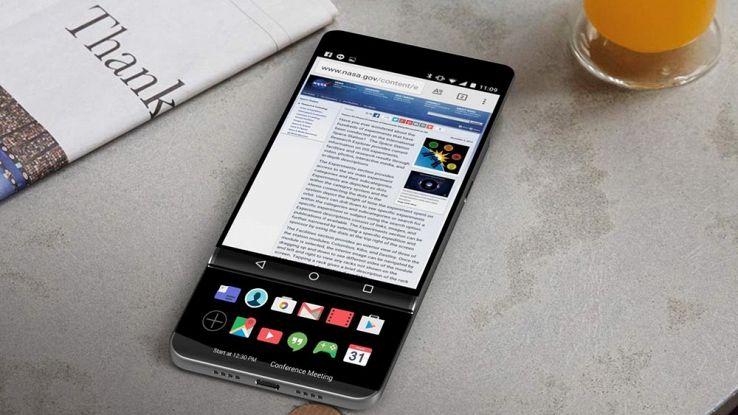 LG V30, lo smartphone con il doppio display a scorrimento