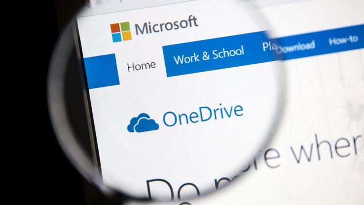 Homepage di OneDrive