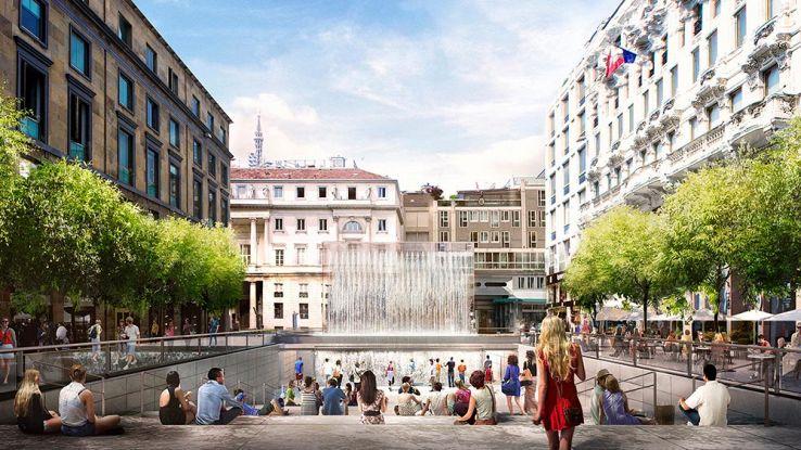 Apple Store Milano, manca poco all'apertura in Piazza Liberty
