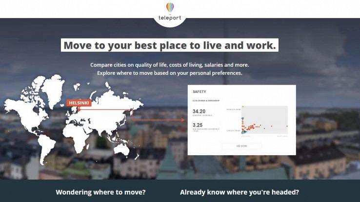 Teleport, il portale che ti aiuta a trovare la città dove trasferirti