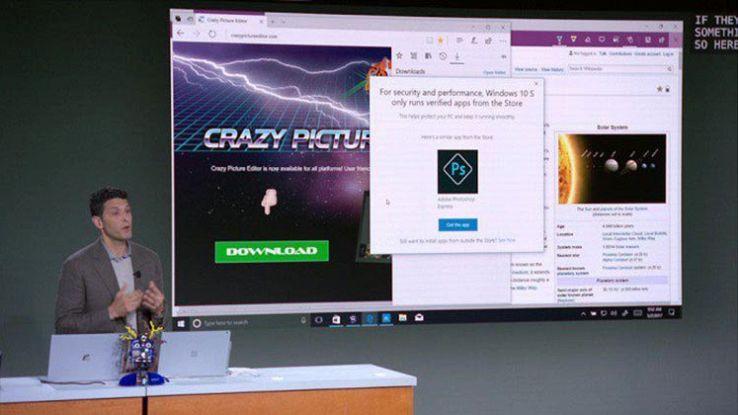 Windows 10 S, obbligati a utilizzare Edge e Bing