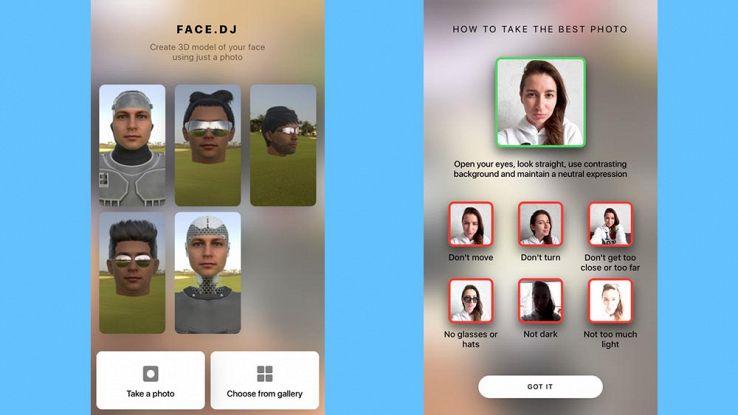 Face.DJ, i selfie in 3D sono alla portata di tutti