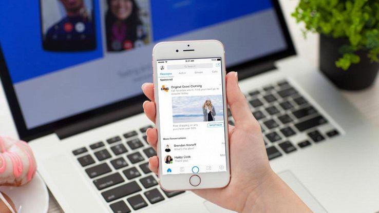Facebook Messenger, arrivano le pubblicità tra le chat