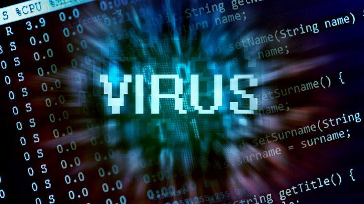 La scritta Virus