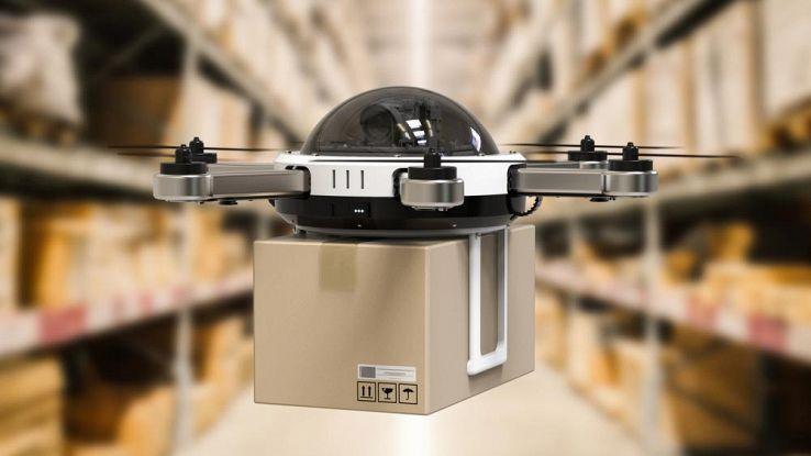 Droni con lettori RFID per organizzare i magazzini del futuro