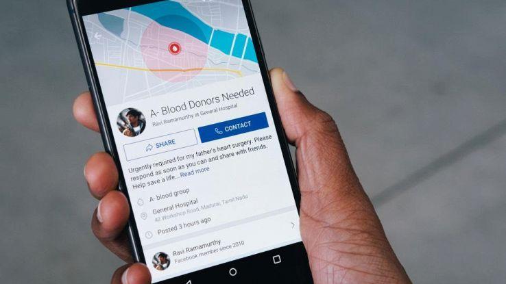 Facebook aiuta donazioni sangue in India