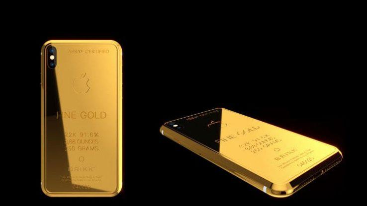IPhone X d'oro da 70.000 dollari disponibile in pre-ordine su Brikk