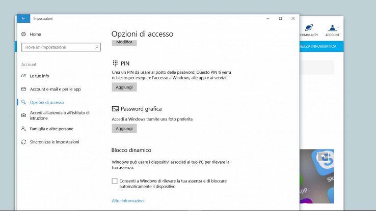 Come e perché impostare una password grafica in Windows 10