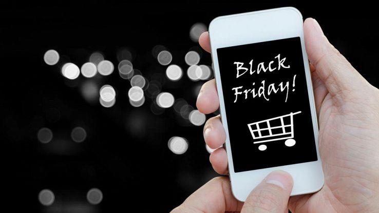 un telefono con la scritta Black Friday