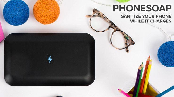 Phonesoap, lava e disinfetta il tuo smartphone senz'acqua