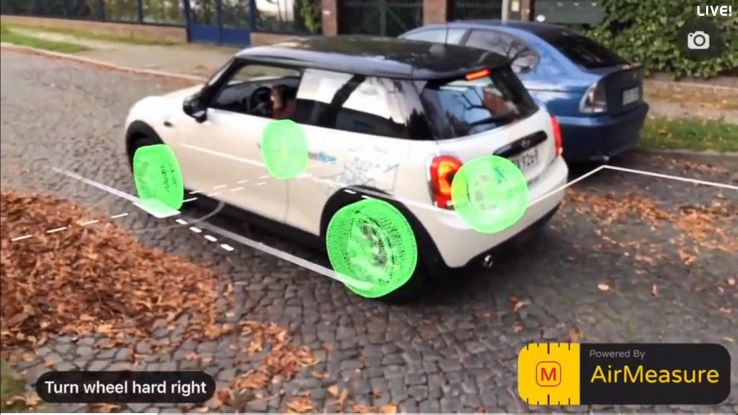 AirMeasure, l'app a realtà aumentata che aiuta a parcheggiare