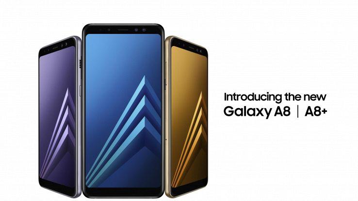 Samsung, ecco i Galaxy A8 e A8+