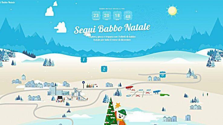Viaggio Babbo Natale si traccia con app