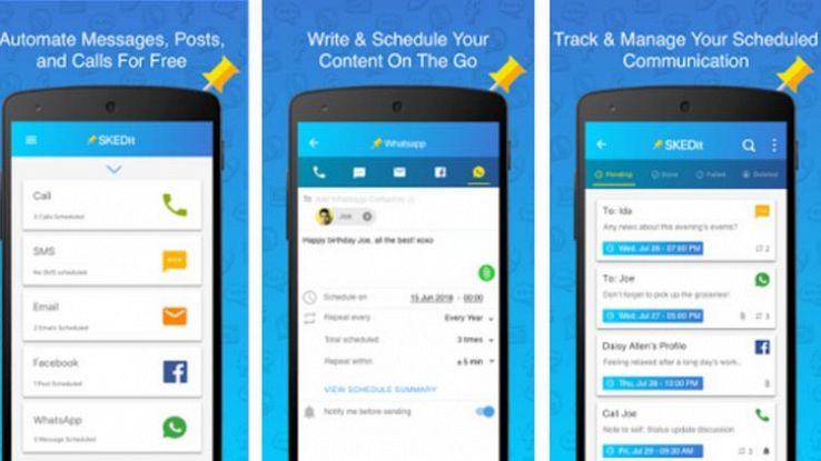 Come utilizzare SKEDit, l'app per pianificare i messaggi su WhatsApp