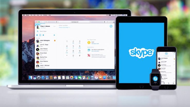 L'applicazione Skype su computer, tablet, smartwatch e smartphone