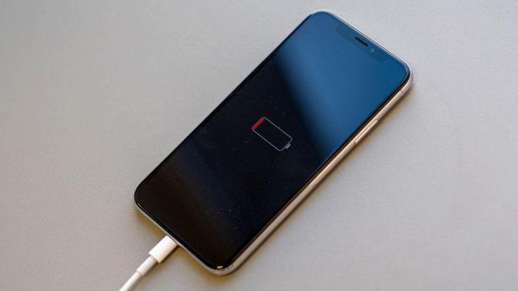 iPhone con batteria scarica