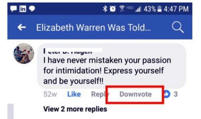 Facebook sperimenta il tasto 'downvote'