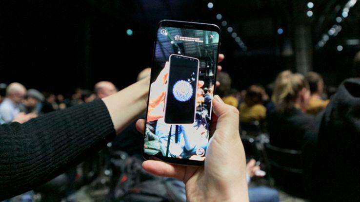 Galaxy S9 nel corso della presentazione
