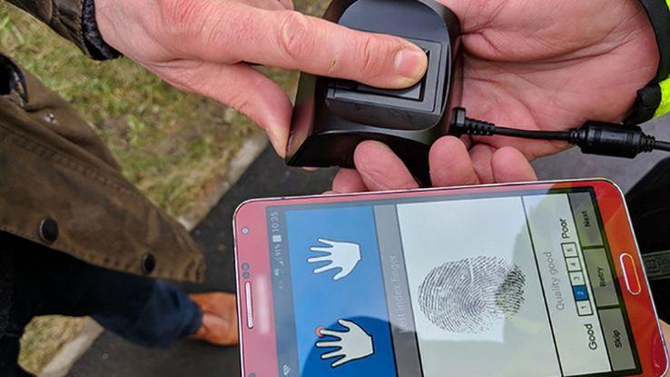 Il lettore portatile in dotazione alla polizia inglese