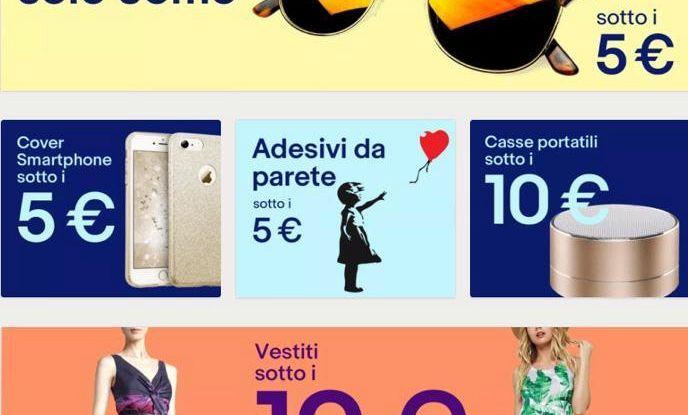 EBay lancia sezione 'Sotto i 10 euro'