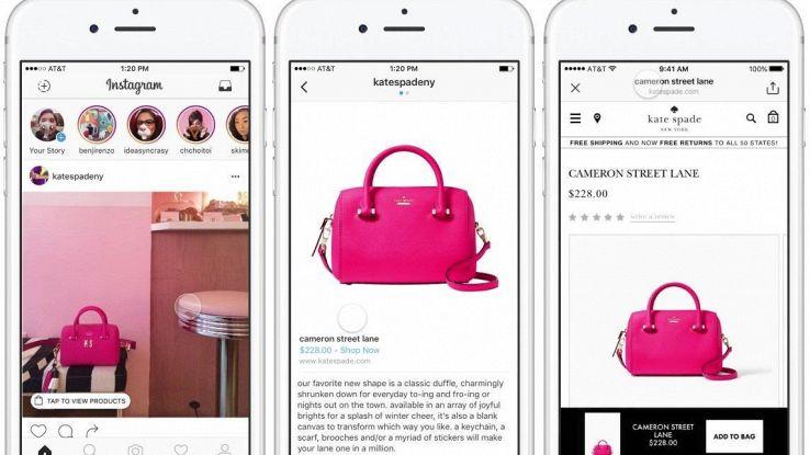 Instagram punta sull'e-commerce con IG shopping